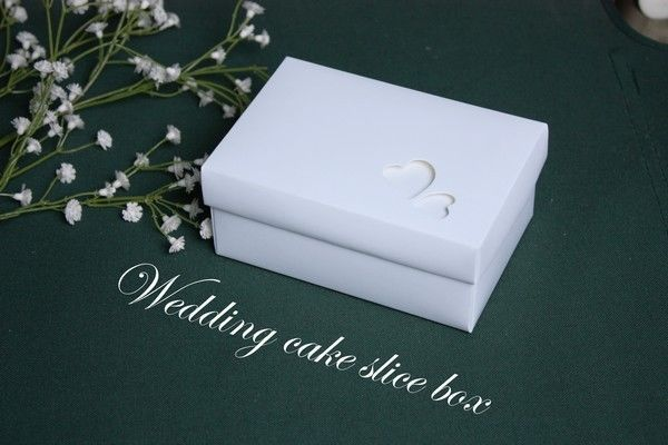 10 Wedding Cake Slice Boxes Gift Boxes, Favour Boxes Larger & Lidded, UK seller