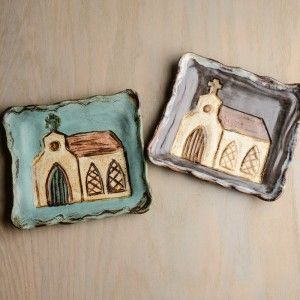 etta b pottery - church plates