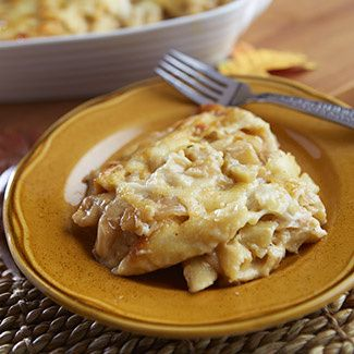 Apple Mac & Cheese with Caramelized Onions