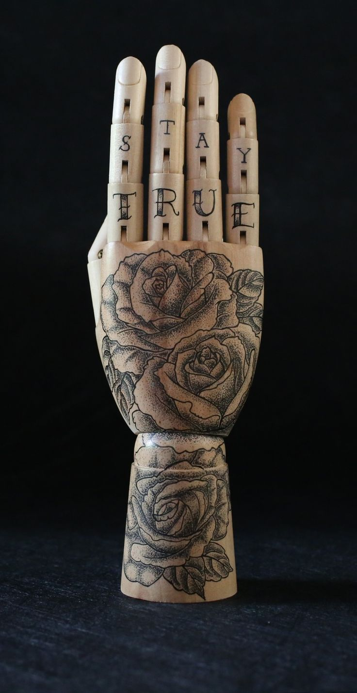 Roses inked hand
