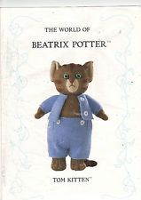 "THE WORLD OF BEATRIX POTTER ALAN DART KNITTING PATTERN CUTE ""TOM KITTEN"" USED"