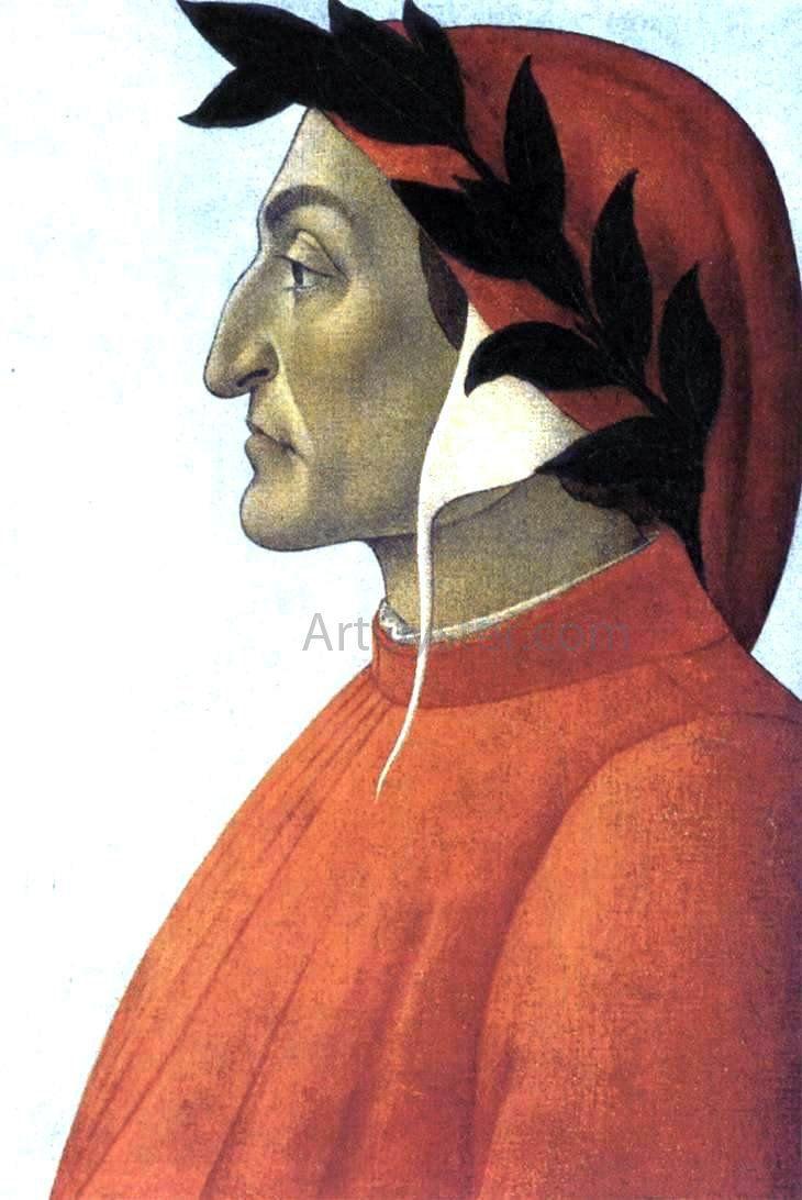 Portrait Of Dante By Sandro Botticelli Hand Painted Oil Painting Botticelli Paintings Sandro Botticelli Paintings Sandro Botticelli
