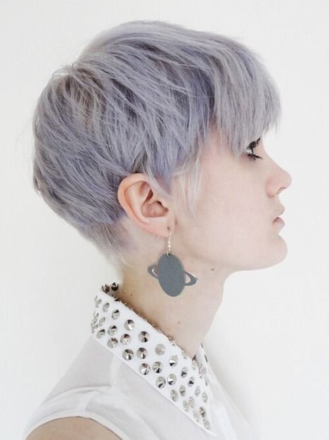 Make the grey hair dye more youthful with hints of purple.