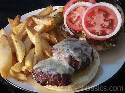 Recipe For Lightly Seasoned Buffalo Burgers - would be delicious with turkey or beef too