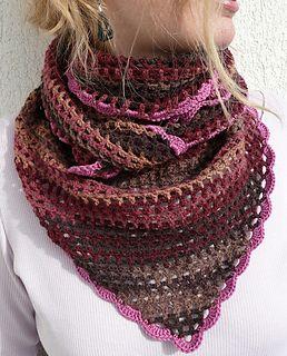 Balaton Shawl - Free crochet pattern with chart.