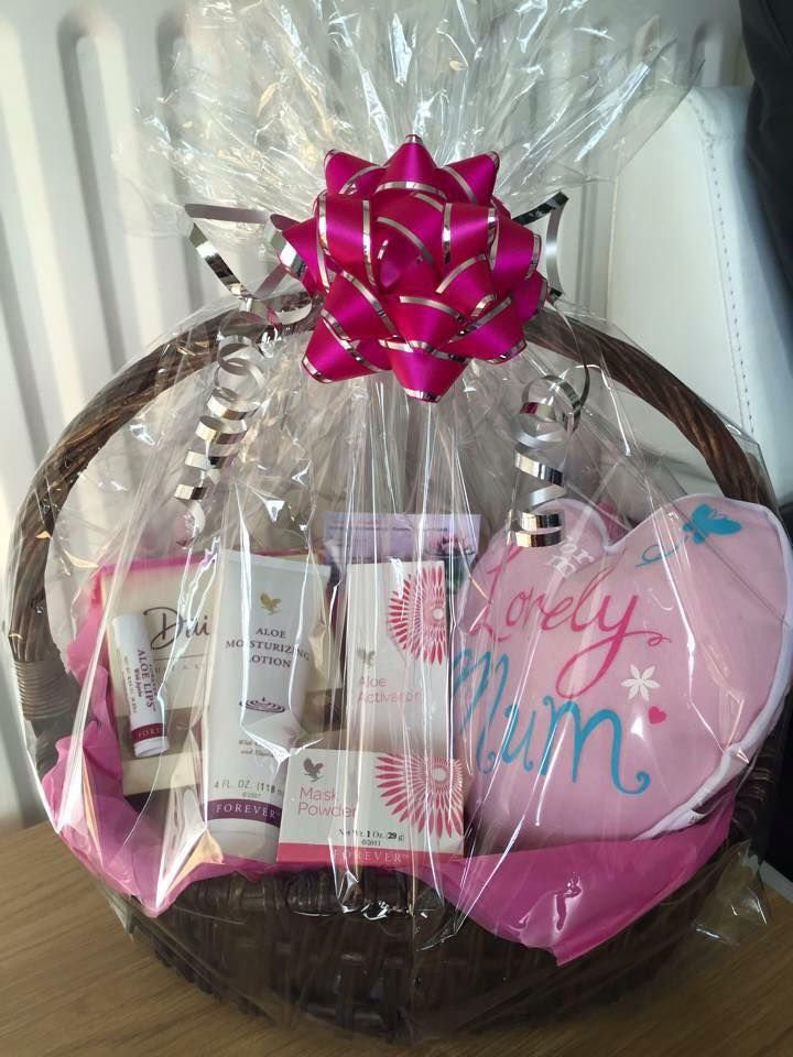 Another gorgeous Gift Basket for mothers day or birthdays! Contact me here - https://www.facebook.com/pages/Melodys-Forever-Living/407508836041122?ref=hl