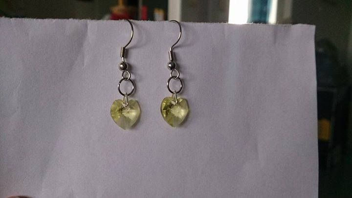 Jonquil swarovski heart earrings