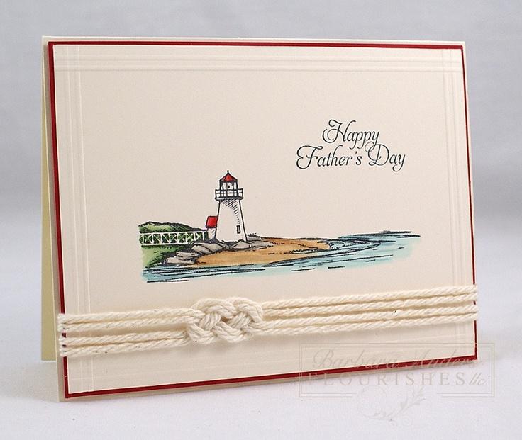 Love the nautical knot  PRIS SUR UN TABLEAU AVEC PLEIN D'AUTRES SUPERBES CARTES !!!!