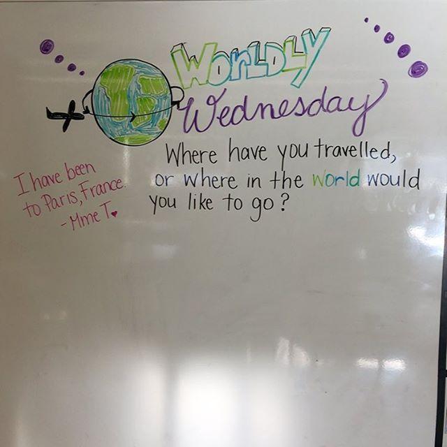 Where have you travelled? #miss5thswhiteboard #teachersofinstagram…