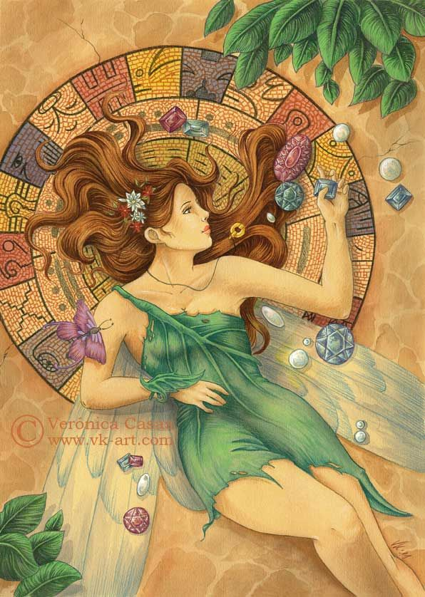 Mosaico -- by Verónica Casas  www.vk-art.com