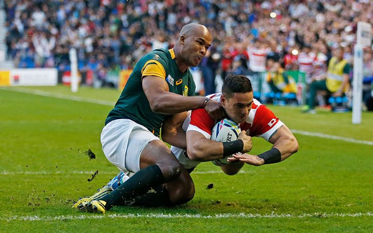 """There were tears shed in the stands and on the pitch as Japan performed a """"rugby miracle"""" defeating South Africa 34-32"""