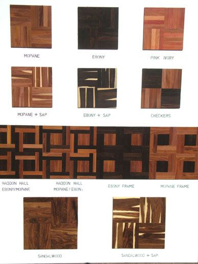 Exotic woods and design motives