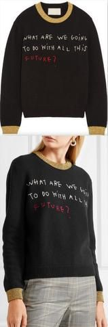 'What are we going to do with all this future' Knit Sweater
