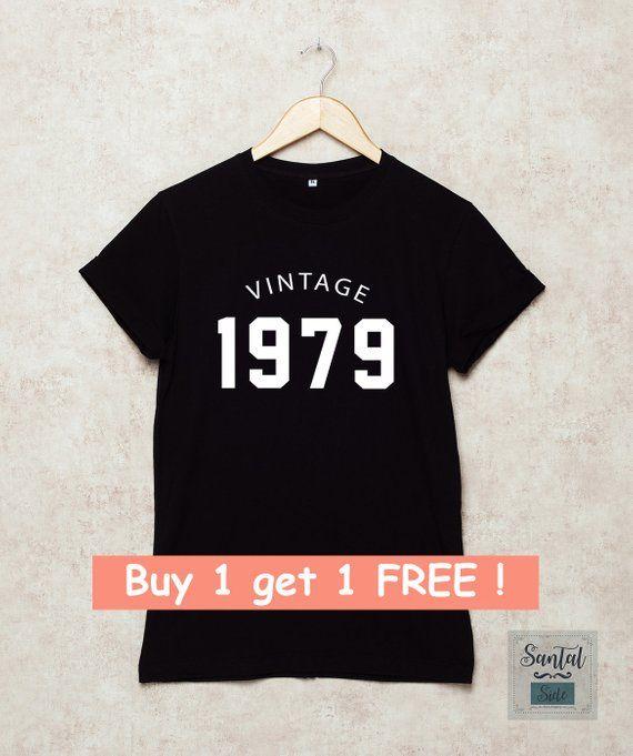 40th Birthday Shirt Vintage 1979 Shirts Tshirts 70s T 40 Gi