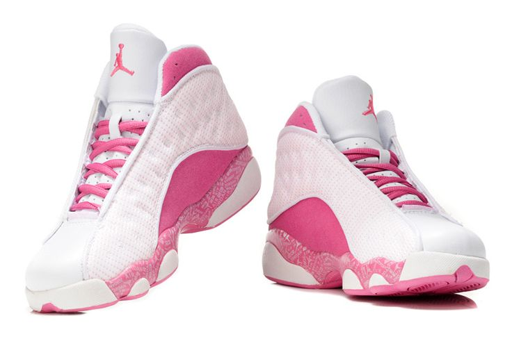 Gallery For > Pink And White Jordans For Girls