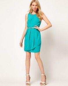vestidos verde azulado cortos 2