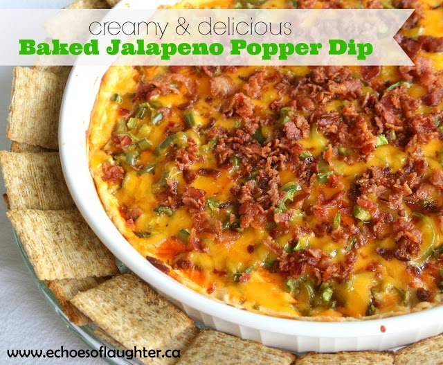 Baked Jalapeno Popper Dip-if you love jalapeno poppers, then you will love this dip! It takes less time to make than the poppers! Yay!