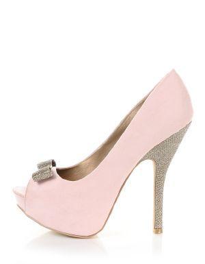 Light Pink | He Loves Me Peep-Toe Heels | $18.50 | Cheap Heels and Pumps Fashion | MODdeals.com