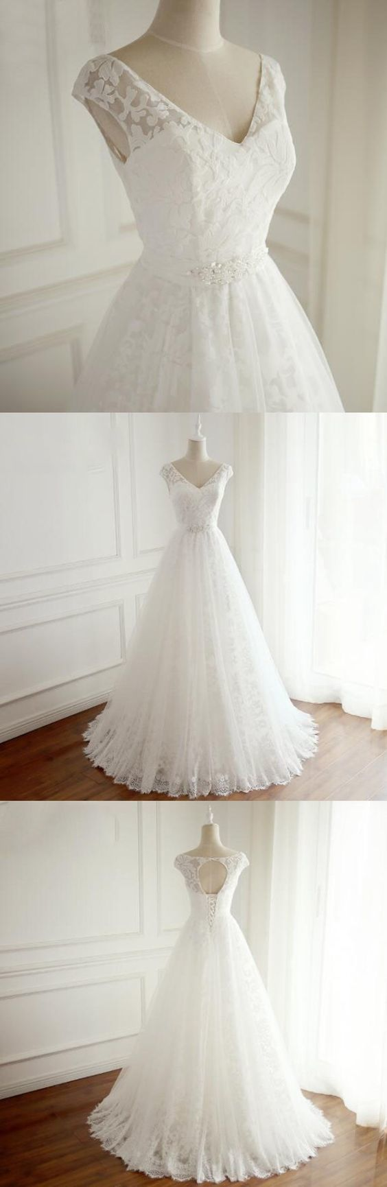 Copy of A-Line Sweetheart Sleeveless Wedding Dress ,Prom Dress, Simple Cheap Custom Prom Dresses