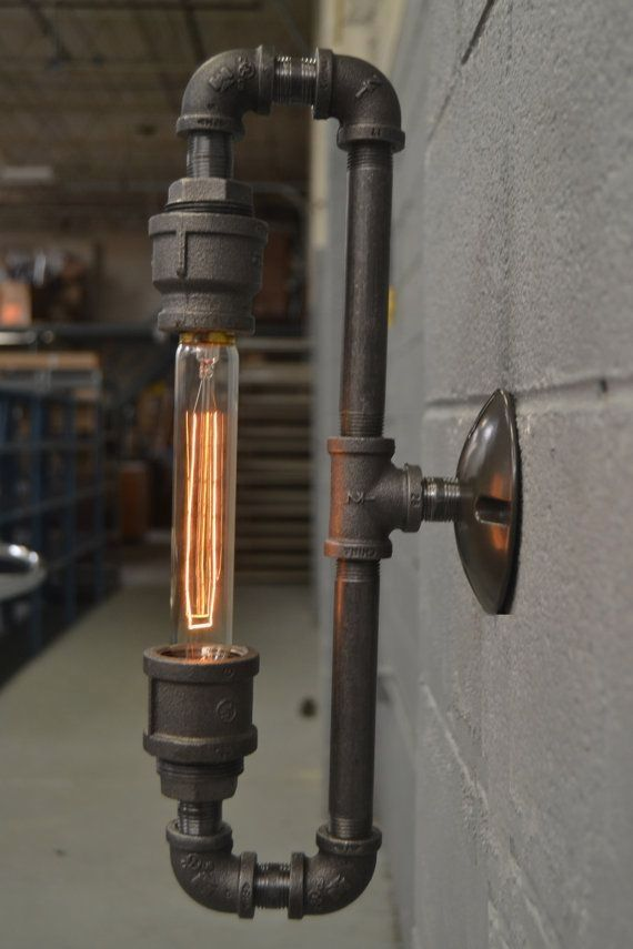 This Industrial Light Is Flexible Enough To Work In A Home Retail Space Or Office It Has A C Steampunk Lighting Industrial Sconce Industrial Lighting Design
