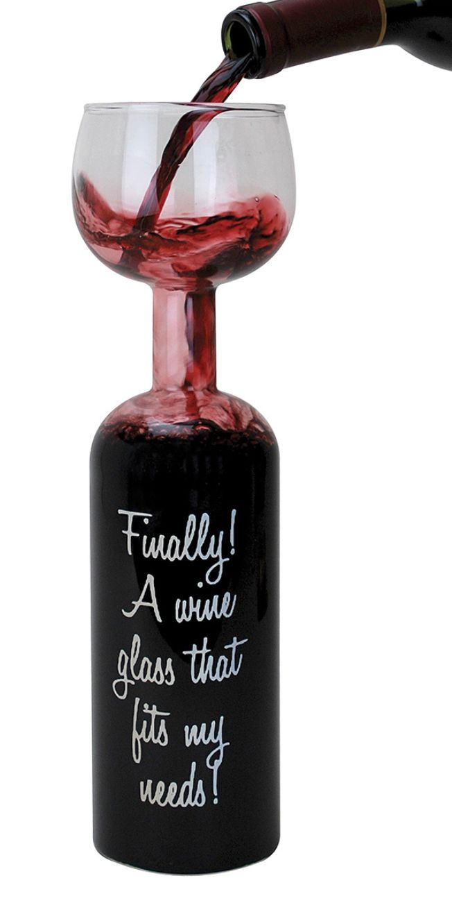Oversized wine glass--NOT!!!  I call this a just perfect sized wine glass!!!  I so need this in my world!!