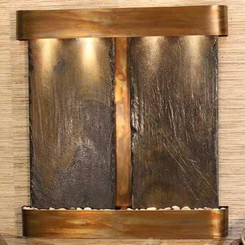 Indoor Wall Water Features - Aspen Falls Lightweight Slate Wall Water Feature