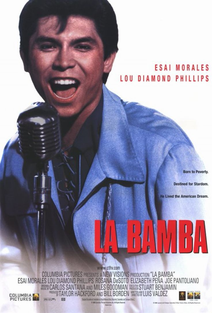La Bamba Movie Poster Amazing movie about one of my favorite artist, who left too soon.