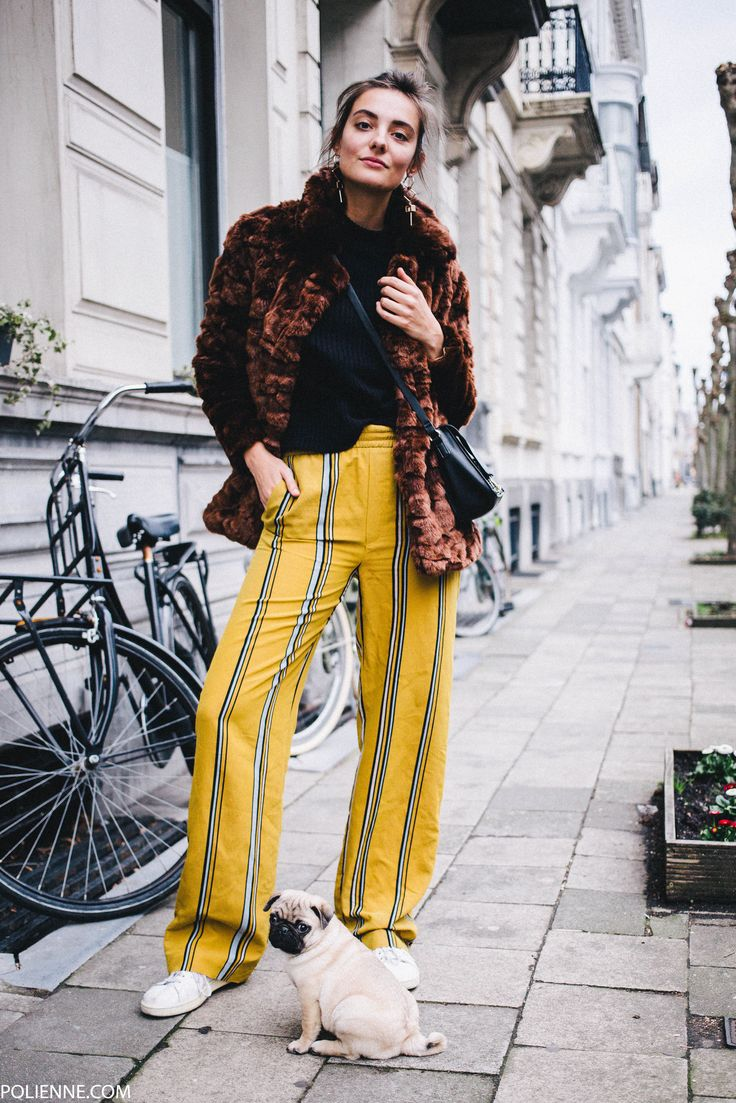 POLIENNE by Paulien Riemis | wearing ZARA trousers, BERSHKA faux fur, ADIDAS sneakers & a cute little pug in Antwerp, Belgium