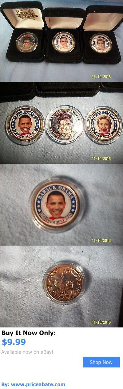 Barack Obama: Three Merrick Mint Coins - Barack Obama, Hillary Clinton, And Elvis Presley BUY IT NOW ONLY: $9.99 #priceabateBarackObama OR #priceabate