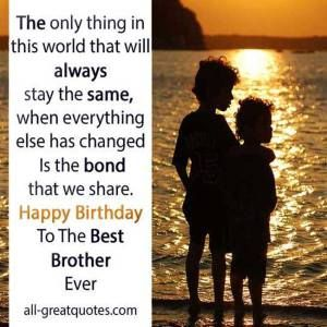 Brother Birthday Cards  & Quotes