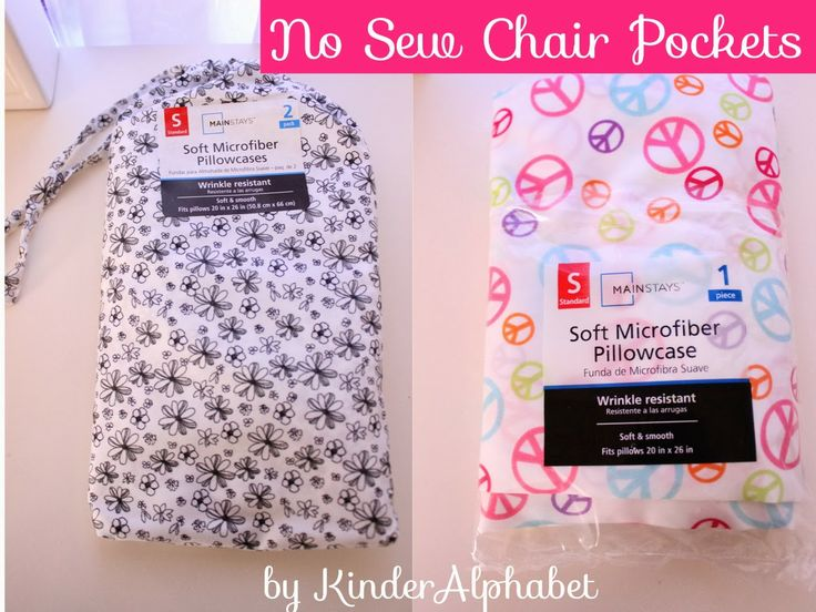 Kinder Alphabet: No Sew chair Pockets with pillowcase!!
