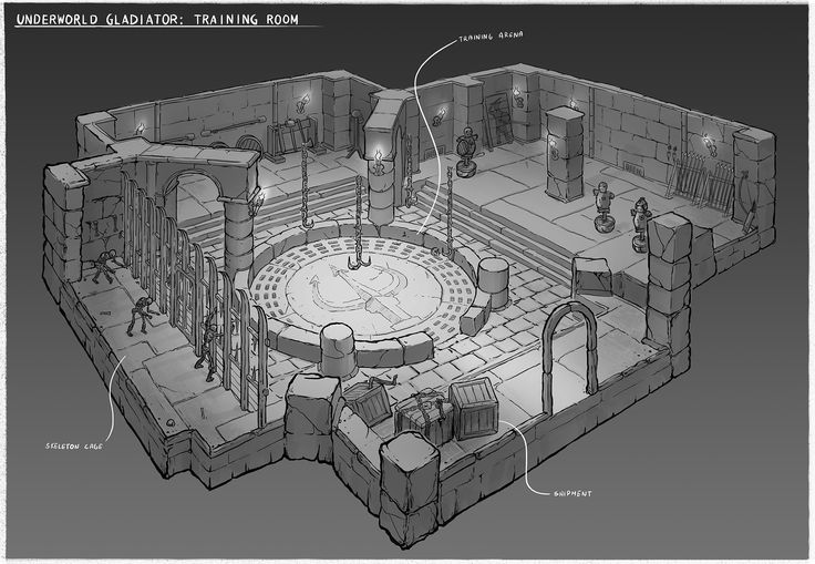 Underwold Gladiator: Training Room by latus - CGHUB
