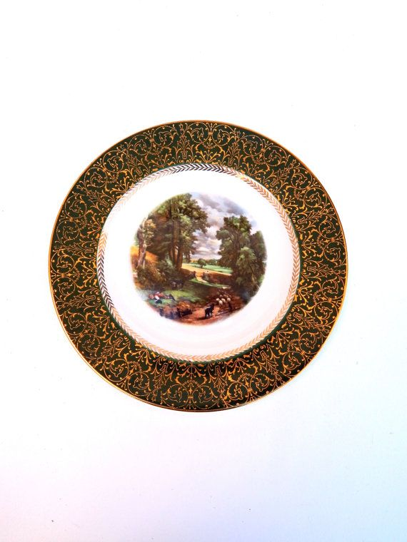 Vintage HOMER LAUGHLIN Plate Constable The by HiddenStairwayFinds