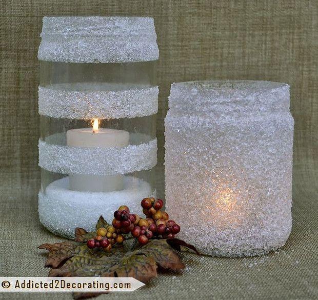 Csak só, ragasztó és egy befőttes üveg kell a gyönyörű karácsonyi mécsestartóhoz! - Blikk Rúzs