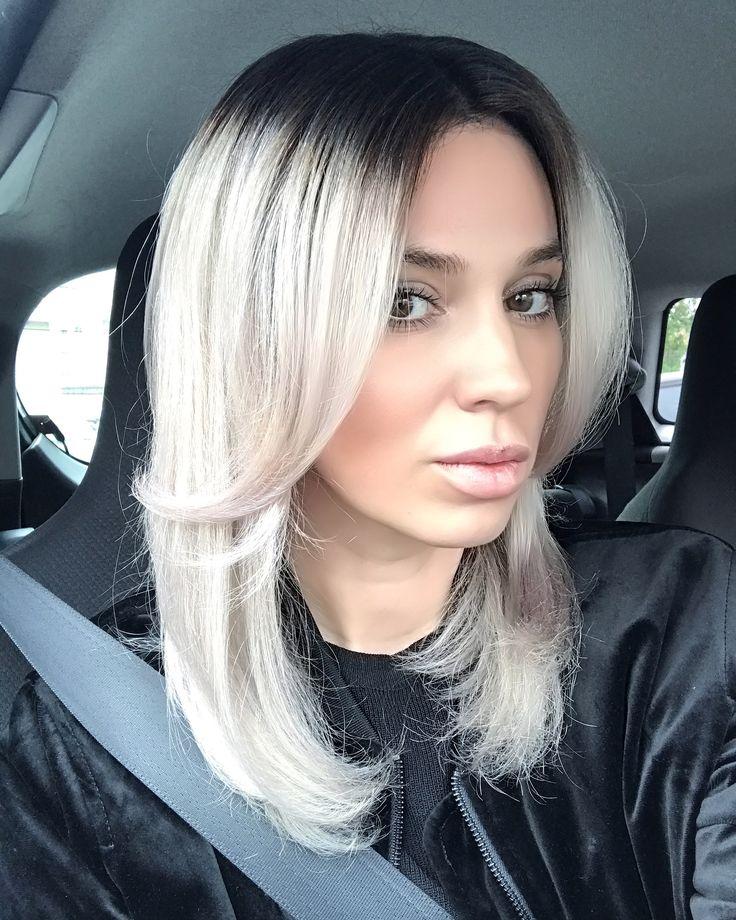Platinum ombre blonde hair
