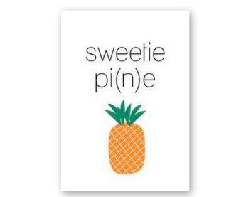 Grappige kaart met ananas, gewoon omdat het kan!