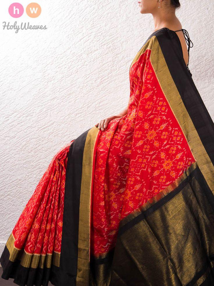 Red Silk Pochampally Saree