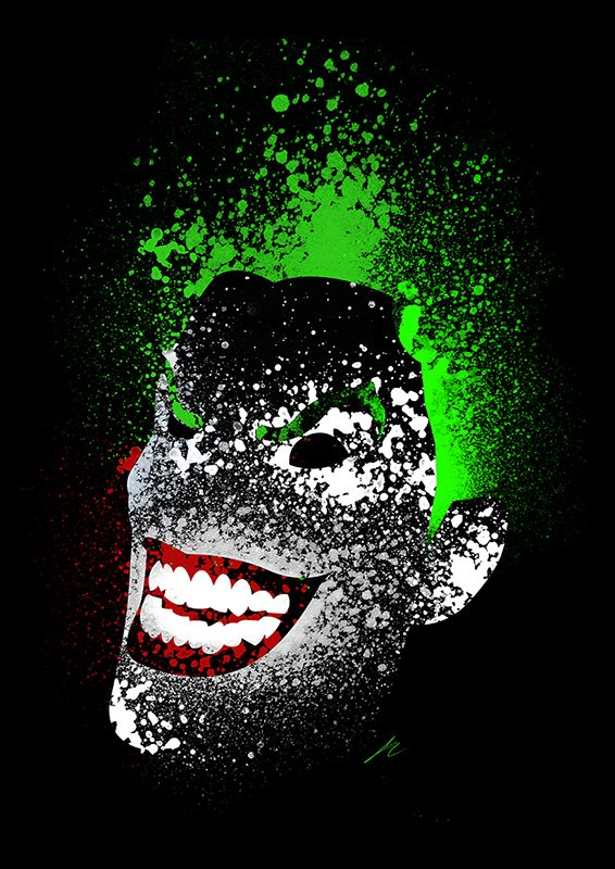 Paint Splatter Villains - Joker by Arian Noveir