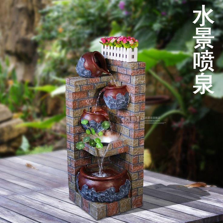 M s de 1000 ideas sobre fuentes de agua interiores en for Antorchas para jardin caseras