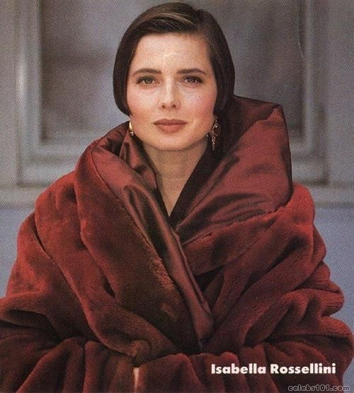 Isabella Rossellini..face of Lancome and in every fashion magazine I could get my nubby little digits on as a kid.