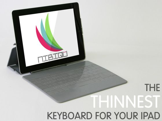 NIBIQÜ, ultra-thin keyboard for your iPad by NIBIQÜ: Diego & Xavier, via Kickstarter.  NIBIQÜ is an ultra-thin keyboard and case, designed specifically for your iPad. It is always there when you need it!