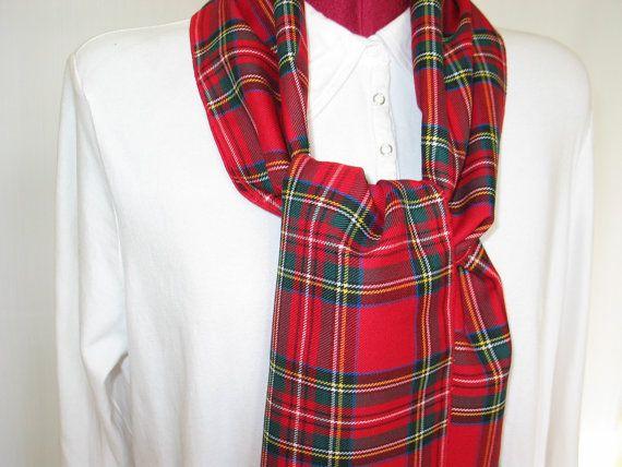 Royal Stewart Tartan Scarf Red Plaid Scarf Plaid by dolldressedup, $20.00