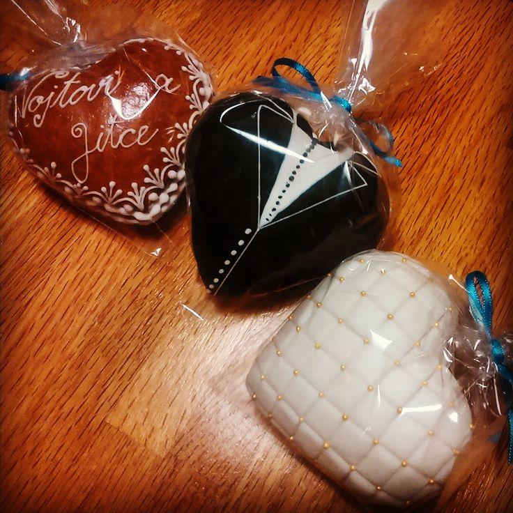 3D wedding hearts #3dcookies