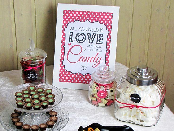Candy Bar Selber Machen Mit Freebie Wedding Candy Bar