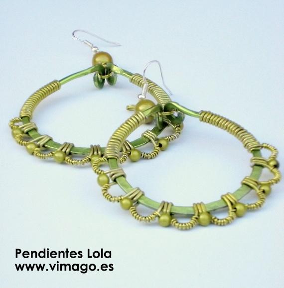 Pendientes Lola verdes / Vimago - Artesanio