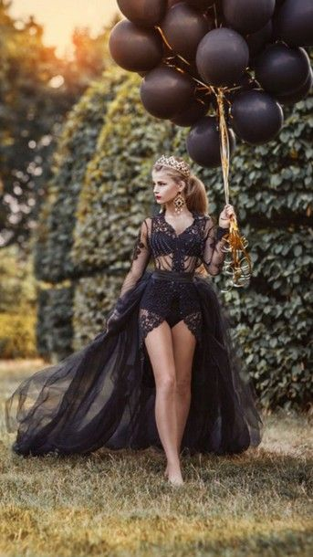 dress black gown black dress high low dress tulle dress black lace sheer transparent dress halloween costume halloween costume crown all black everything