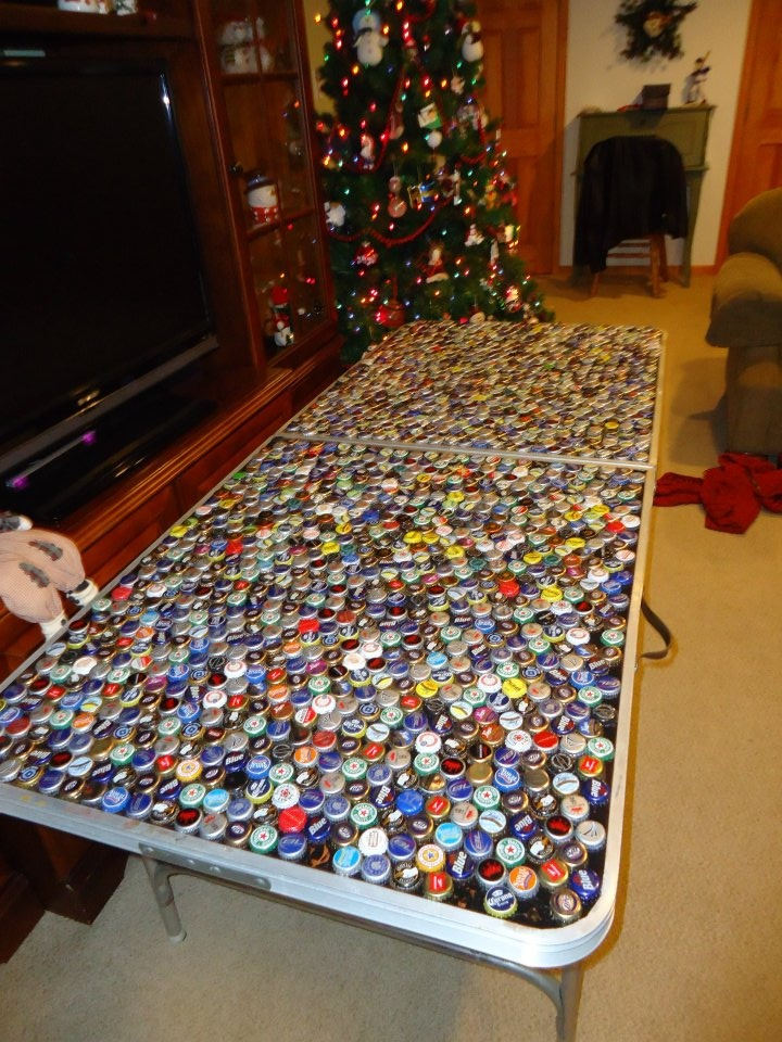 1000 images about beer pong table ideas on pinterest for How to make a table out of bottle caps