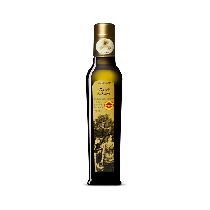 """$7.90 - EVOO """"Secoli D'Amore"""" - Extra virgin oliveoil Aprutino Pescarese #POD 0,25L. A superb extra virgin oliveoil made from olives of the """"Dritta"""" variety grown in #Abruzzo. The combination between a perfect processing method and passion for olive oil culture provide an exceptional extra virgin. Fruitage is medium, you can perceive the #flavor of field grass and artichoke. Its characteristics make it ideal for enriching fish dishes or roasts - extra vergine di oliva #DOP italiano -"""