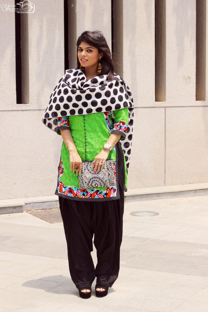 polka and neon #polka #fashion #fashionblog #indianbloggers