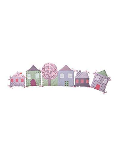 Tour de lit maisons modulable bébé thème Libertyville XX-VIOLET - vertbaudet enfant